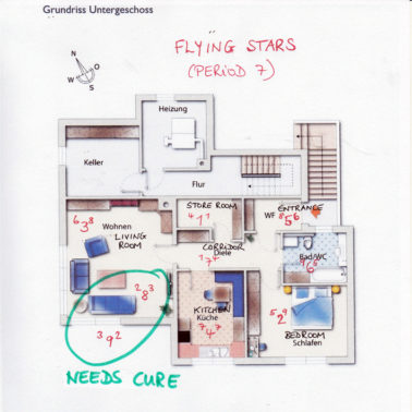 Floor Plan with Flying Stars Living and Terrace