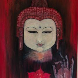 Scarlet Lotus Buddha