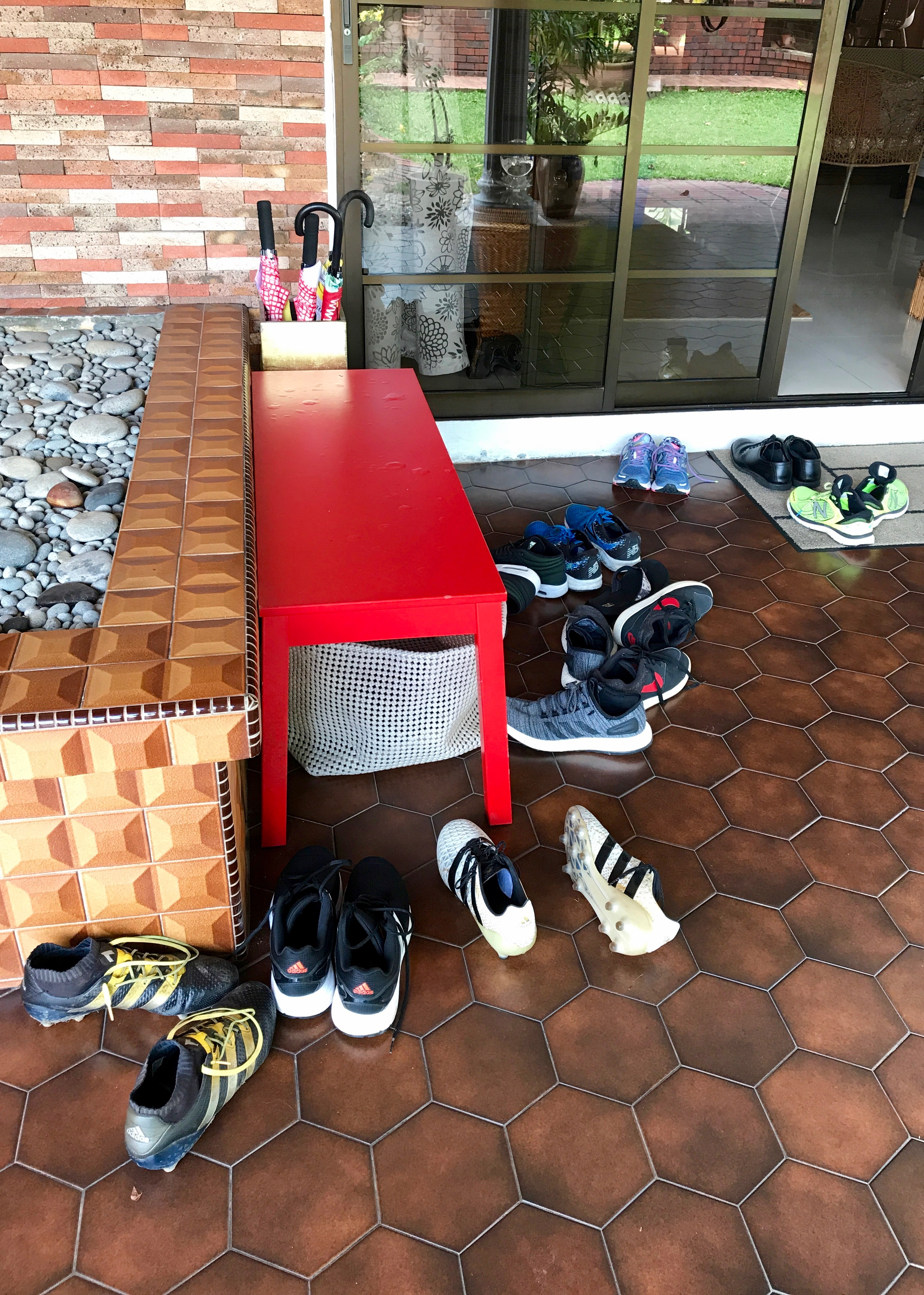 Shoes outside entrance