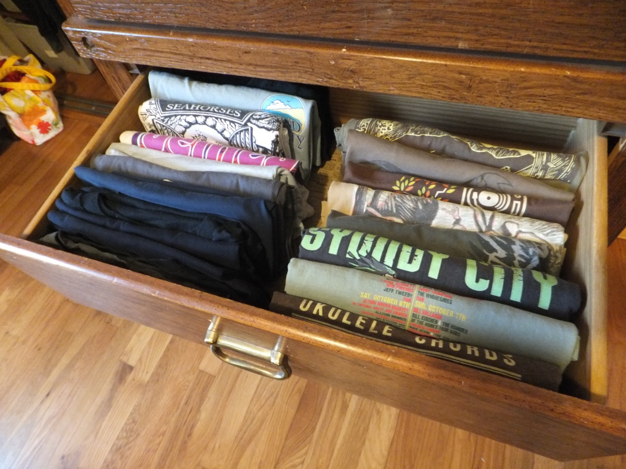T-Shirts in drawer