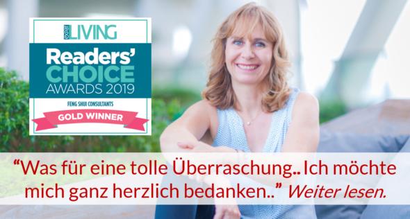 Reader's Choice Award 2019 for Lucy Richardson from Feng Shui Focus_deutsch