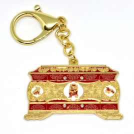 Treasure Chest Amulet with Lucky Cat