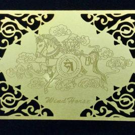 Wind Horse Card black background
