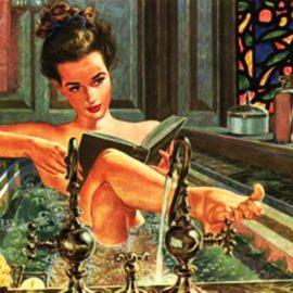 Lady in Bathtub Retro
