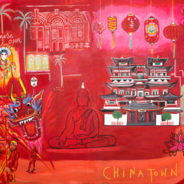 Chinatown Singapore by Clare Haxby