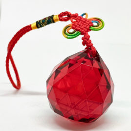 Red Facetted Crystal Hanging