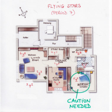 Floor Plan with Flying Stars Bedroom