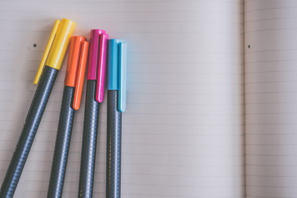 Notebook and colouring pens_Feng Shui Focus Tips