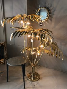 Golden Palm Tree Lamp