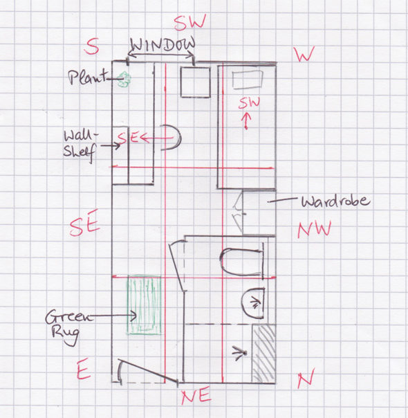 Luke's student room floor plan