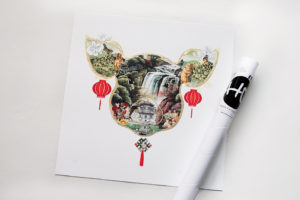 Year-of-the-PIg-with-tube-15cm_Feng Shui Art