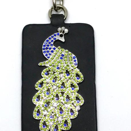 Peacock Key Ring close-up
