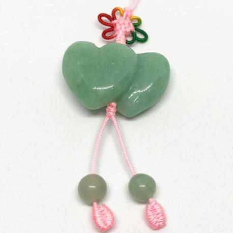 Green Jade Hearts Charm square
