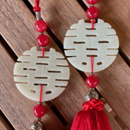 Double Happiness Tassel (red)