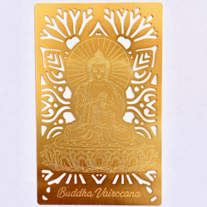 Buddha Vairocana Gold Card